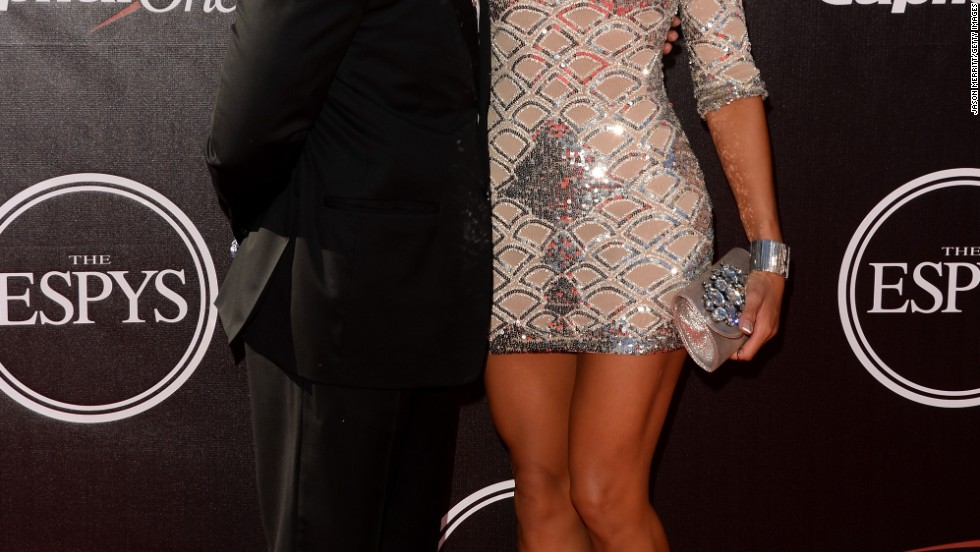 Taye Diggs and girlfriend Amanza Smith Brown arrive at the 2014 ESPYs on July 16.