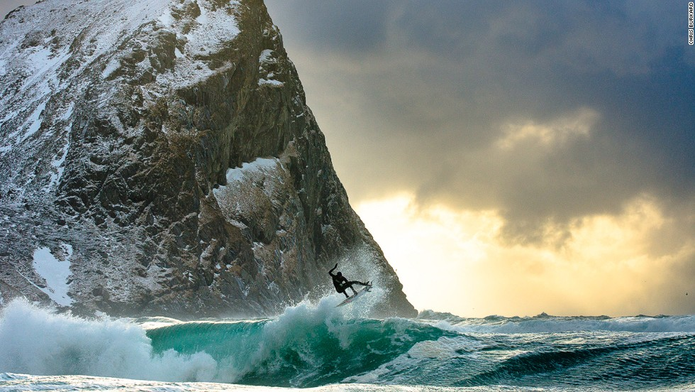 """I feel driven to document the Arctic and Arctic surfing,"" says Burkard."
