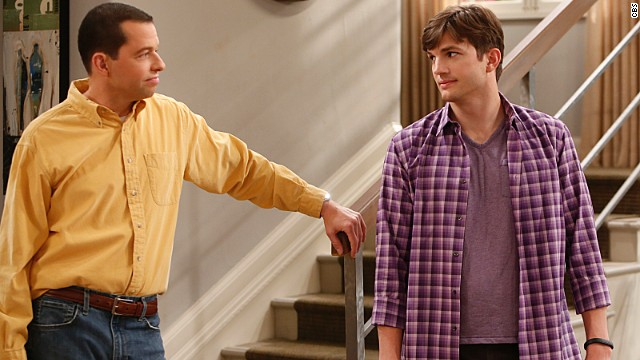 "Jon Cryer and Ashton Kutcher star on CBS' long-running sitcom, ""Two and a Half Men."""