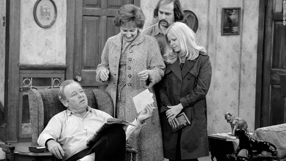 "CBS coasted through 1974 on the success of ""All in the Family,"" which broke ground for its depiction of a working-class family whose constant bickering stood in stark contrast to the peaceable families of 1960s television. The series debuted in 1971 and was still one of the network's top-rated shows in the summer of 1974."