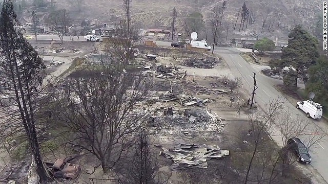 Get a glimpse of a wildfire's aftermath