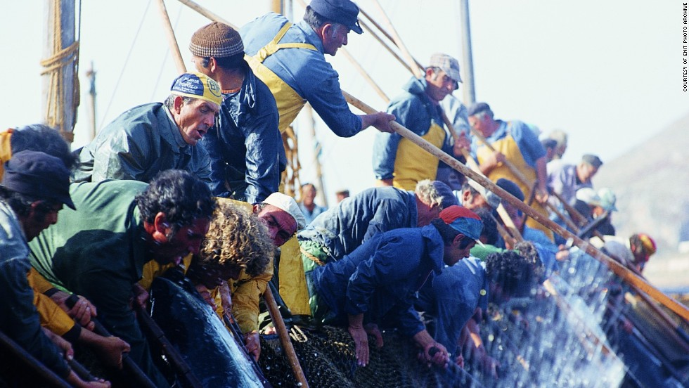 Favignana once hosted the tonnara -- a gruesome traditional tuna-killing festival that was banned in 2008.