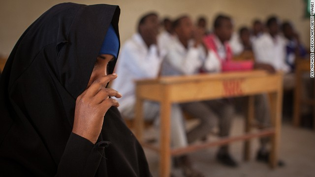 A discussion on female genital mutilation takes place at Sheikh Nuur primary school in Hargeysa, Somalia, on February 19, 2014.