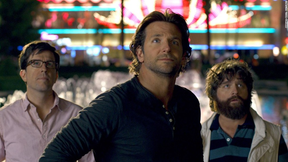 "Bradley Cooper, center, has earned both the money and critical accolades over the past year. In 2013, he did another installment of the popular ""Hangover"" franchise (with Ed Helms, left, and Zach Galifianakis), but then he also took on the more acclaimed ""American Hustle."" Between June 2013 and June 2014, Cooper earned roughly $46 million, enough to debut on Forbes' list."