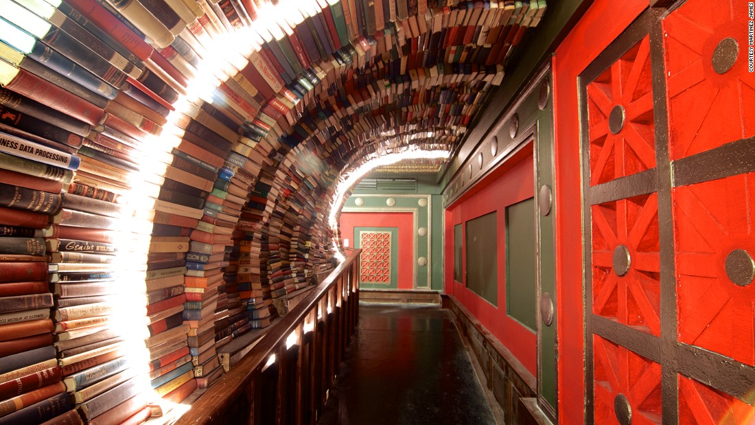 "The stylish Last Bookstore in Los Angeles has served as the backdrop for a fashion shoot in ""Esquire."""