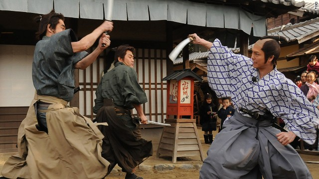 Shows, like this samurai sword fight demonstration, are presented in Japanese. But the best parts are highly entertaining even if you don't speak the language.