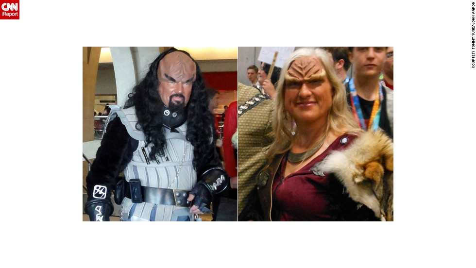 """Star Trek's"" Klingons, of course, are a perennial favorite for cosplayers at any fan convention. Check out these two from Comic-Con 2010 and weigh in on your favorite below."