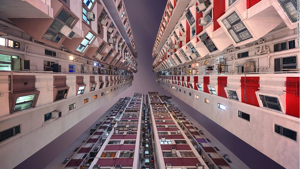 "City dwellers are perhaps more acquainted with the architecture of their phones than the skyscrapers that carve out their commutes. However, Hong Kong-based photographer <a href=""http://www.rjl-art.com/"" target=""_blank"">Romain Jacquet-Lagrѐze</a> reckons eyes should be diverted upward. Documenting the colossal sky-rises that crowd the city, Jacquet-Lagrѐze captures these giants from the ground up in his book <a href=""http://www.rjl-art.com/vertical-horizon.php"" target=""_blank"">Vertical Horizons</a>, unveiling extraordinary sights often missed when heads are kept down. <br /><br />By Monique Todd, for CNN"