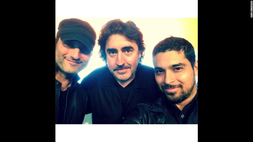 "Actor Wilmer Valderrama, right, posted <a href=""http://instagram.com/p/qp3iCpyKqA/"" target=""_blank"">an Instagram photo</a> with director Robert Rodriguez, left, and actor Alfred Molina on Saturday, July 19. ""Very few times you get to meet your Heroes, and fewer times you get to work & learn from them,"" he wrote."
