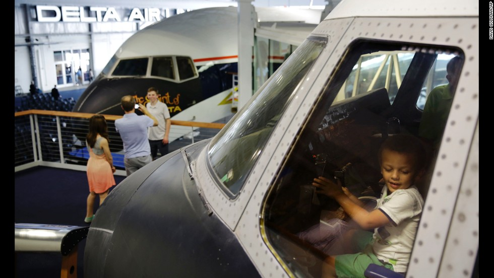 Delta Air Lines opened its rebooted flight museum to the public in June, giving 4-year-old Elijah Branch a chance to enjoy the cockpit of the first Lockheed L-1011 TriStar airliner, serial number 1001.