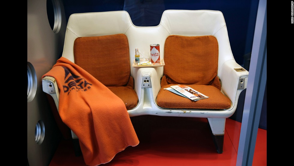 In 1960, first class seats on some airliners looked like these, which were on display at the museum's grand opening.