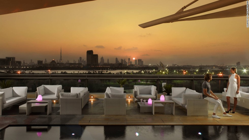 Atop the Jumeirah Creekside Hotel, Cu-ba is one of the top spots for enjoying the glittering skyline of Dubai.