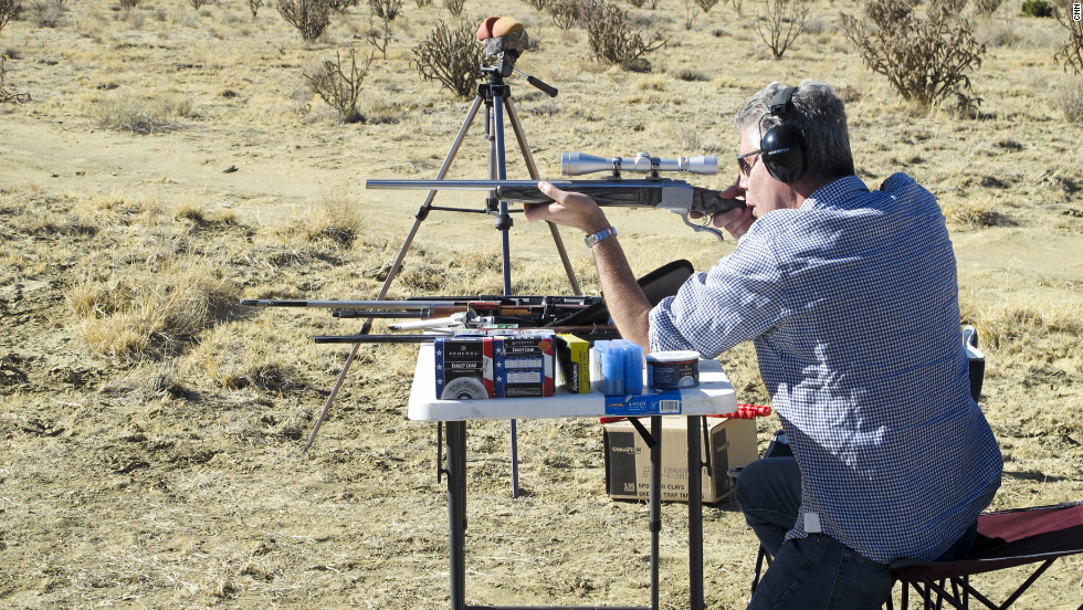 """In New Mexico, Tony ate viciously hot chiles, took a look at the American cowboy ideal and explored gun culture in the U.S. """"There are a lot of nice people in this country,"""" he said. """"A whole helluva lot of them, like it or not, own AR-15s."""""""