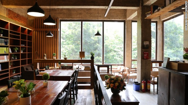 Guangzhou's newest bookshop and cafe offers free stays for backpackers.