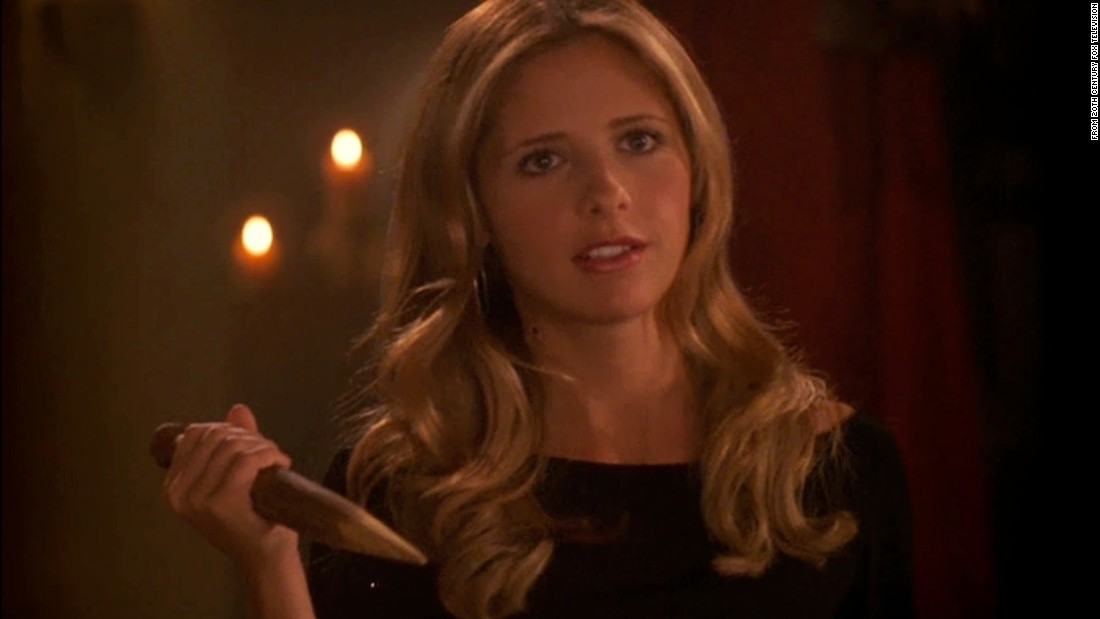 "Buffy Summers, played by Sarah Michelle Gellar, was vampires' worst nightmare in the beloved TV series ""Buffy the Vampire Slayer."""