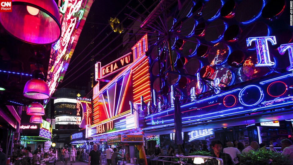 "Neon might be fading, but there are still plenty of places around the world to spot the glowing signs. Soi Cowboy, Bangkok's red-light district, ""has to be one of the largest displays of neon in such a tight confined area,"" <a href=""http://ireport.cnn.com/docs/DOC-1152069"">iReporter Jim Heston said</a>."
