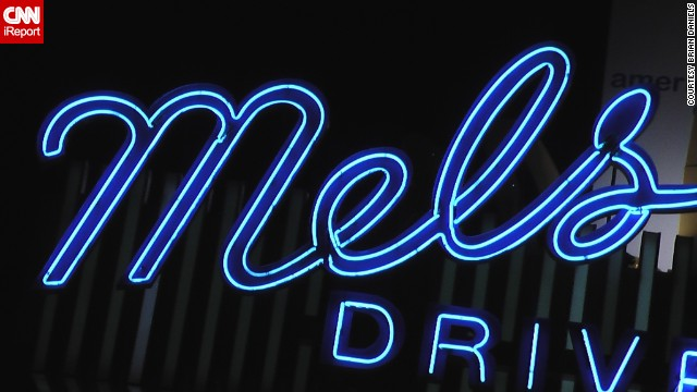 Mel's Drive-In, a famous neon sign in Los Angeles.