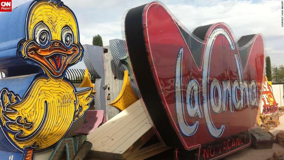 "The <a href=""http://www.neonmuseum.org/"" target=""_blank"">Neon Museum</a> in Las Vegas has a <a href=""http://ireport.cnn.com/docs/DOC-1056832"">graveyard of rescued signs</a> from some famous places, like Caesars Palace and the Stardust. Freelance travel writer Vicki Arkoff visited on a work trip in October."