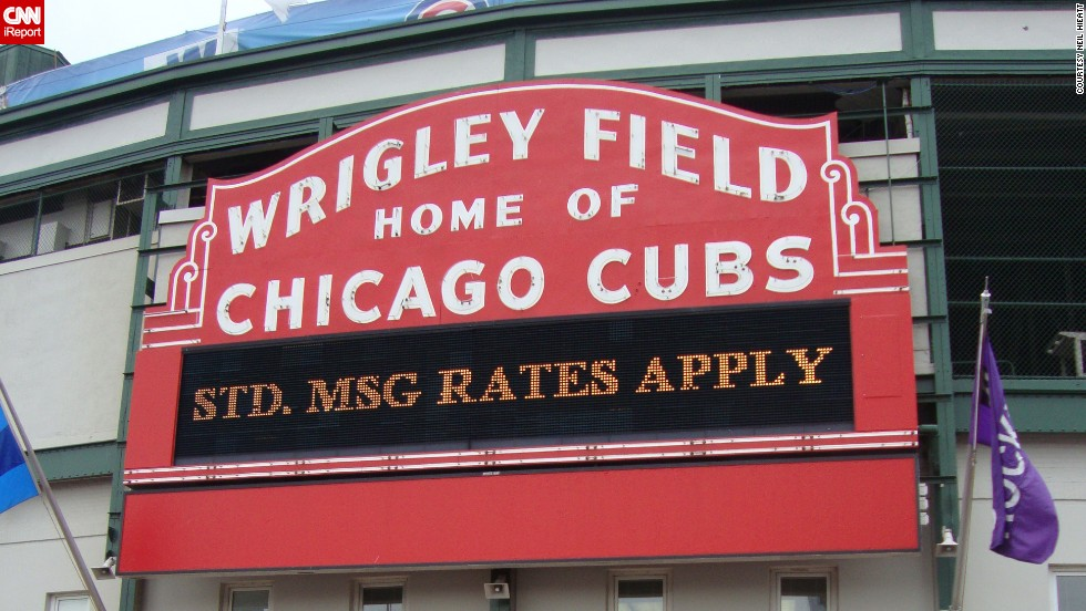 """They may be glitzy at night, but during they day, neon signs have a subtle elegance to them,"" says Neil Hieatt. Take the iconic neon sign from Chicago's <a href=""http://ireport.cnn.com/docs/DOC-1150838"">Wrigley Field</a>, as spotted on a 2009 game day."