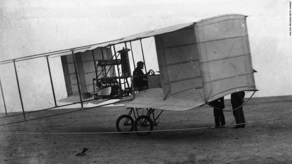 "Air power harks back to Civil War-era hot air balloons and was used all over the theaters of World War I for reconnaissance, bombardment, and aerial combat. Here, the French-built Voisin ""pusher,"" originally built for reconnaissance and later developed as a bomber. It is credited with the first air-to-air kill."