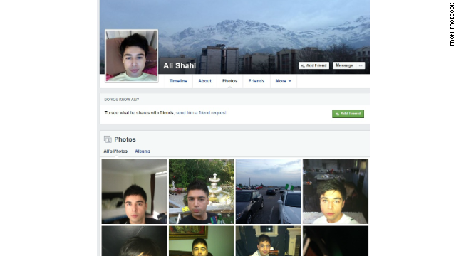Ali Shahi's Facebook page