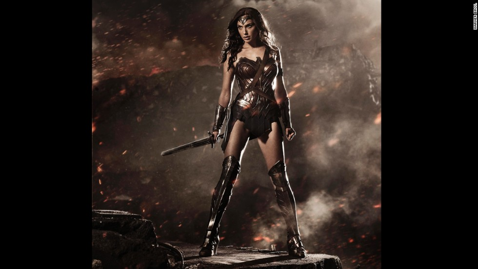 "Gal Gadot's Wonder Woman from ""Batman v Superman: Dawn of Justice"" was unveiled at 2014's San Diego Comic-Con, and her first onscreen appearance in a trailer the following year. Her solo movie is due out in 2017."