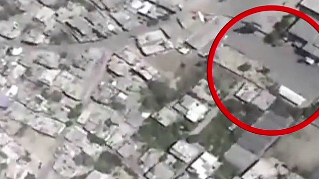 IDF: New video of mortar explosion