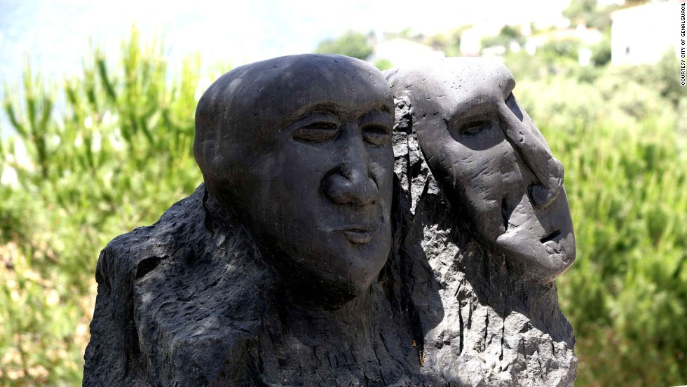 """Art titled """"Plains Heads,"""" by Esteban Vicente Perez, went on display in Genalguacil after the Spanish-born American painter stayed in 1995."""