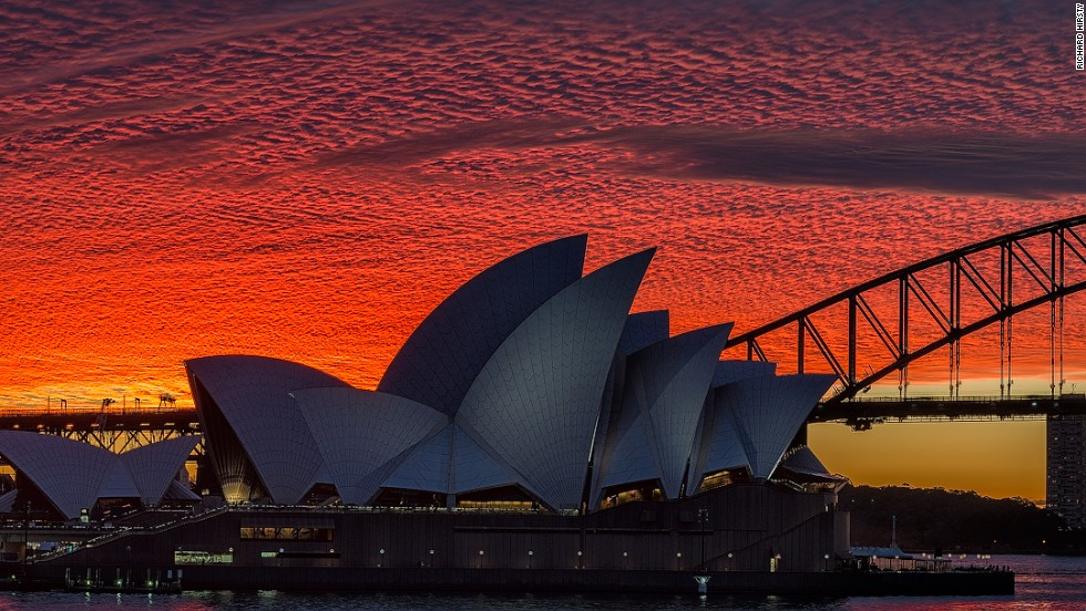 "Many a good photo is a case of being in the right place at the right time, as this one of the majestic Sydney Opera House by <a href=""http://facebook.com/hirstyphotos"" target=""_blank"">Richard Hirsty</a> shows."