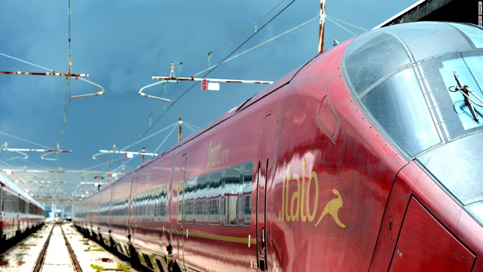 Italy's high-speed Italo trains connect to Florence and can be booked easily using an app and e-booking service.
