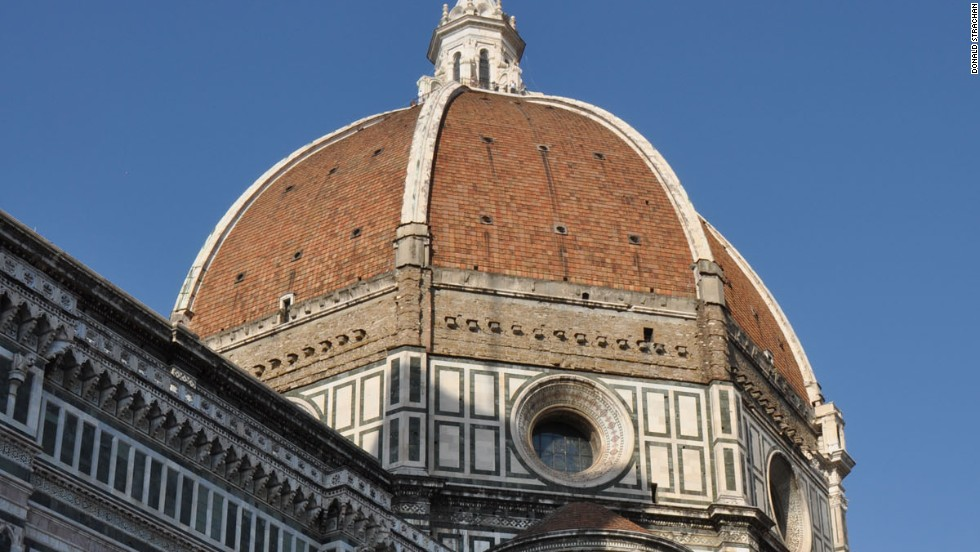 Also worth a look, from both inside and out, the dome of Florence Cathedral was designed in the 15th century by Filippo Brunelleschi.
