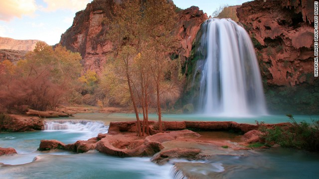 Havasu falls inside Havasupai reservation arizona, grand canyon. (Photo by: Universal Images Group/Getty Images)