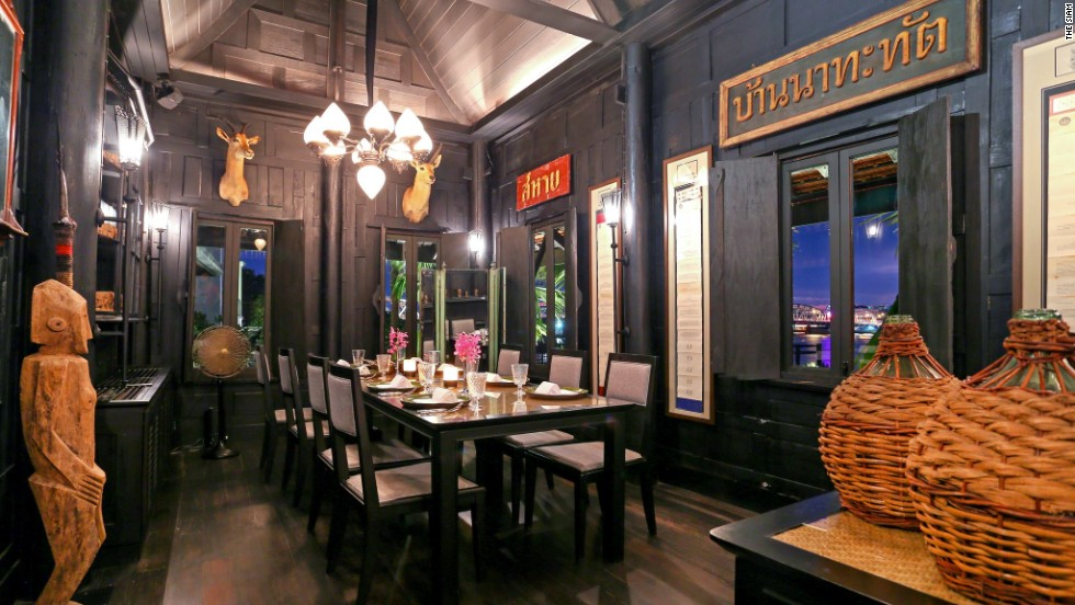 Thai restaurant Chon is one of four teak structures at The Siam that date back at least 150 years.