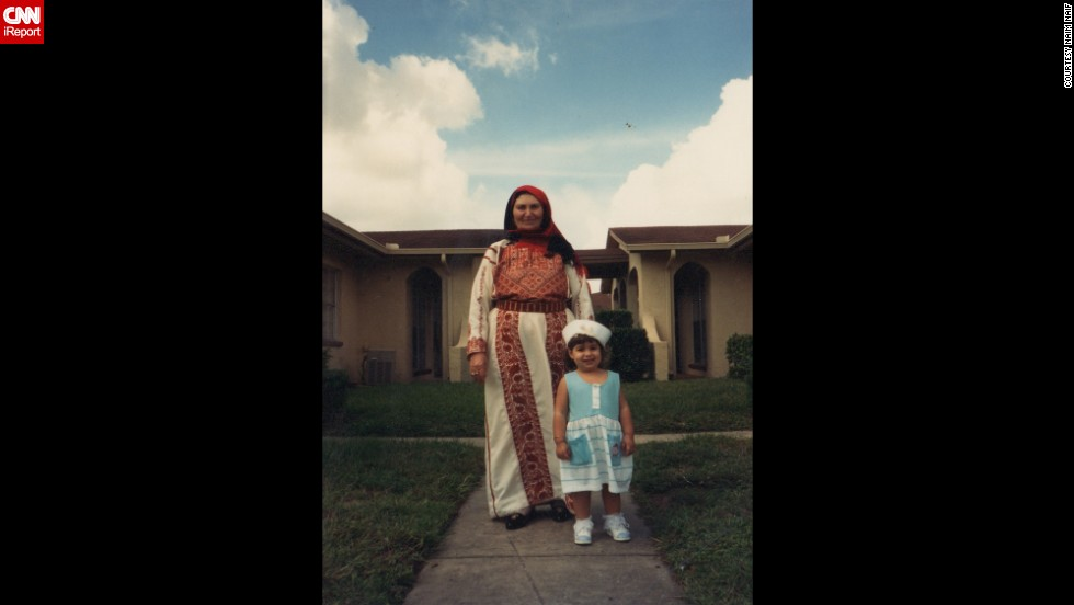 Naim Naif's parents moved back to the United States in 1986 to start a family. His grandmother came to Tampa to visit in the '90s, as shown here with his oldest sister, Athar. His grandmother only wears traditional clothing, like this robe, called a thawb, said Naif.