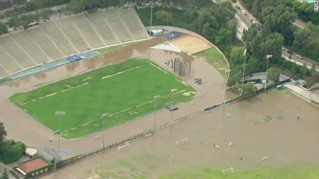 A water main broke in Los Angeles, spreading ankle-deep water across sections of the UCLA campus Tuesday.