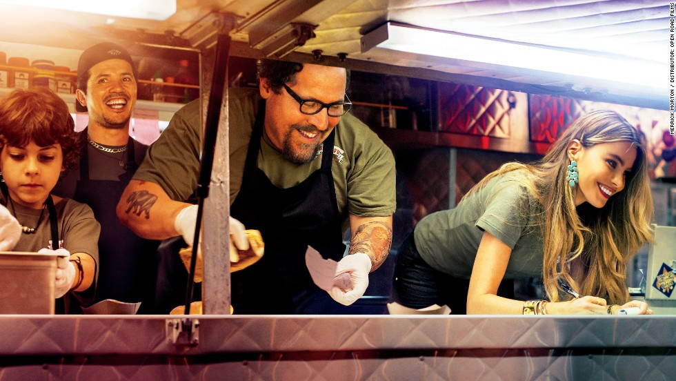 "Secret to success in the food truck biz? Have Sofia Vergara (right) serve up the goods. With his 2014 film ""Chef,"" Jon Favreau (center) tracks a fictional food truck and its quick-tempered chef."