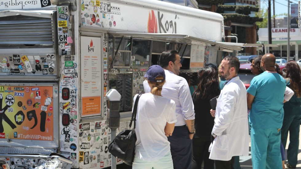 Today, Kogi's four trucks roam Los Angeles, drawing crowds wherever they go.