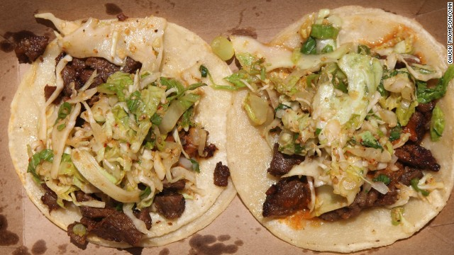 Kogi's Korean barbecue tacos are just one part of L.A.'s exploding food truck scene.
