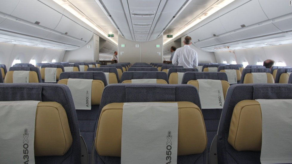 Airbus have been championing the industry to make 18-inch width seats the norm. The A350XWB can be configured from up to 10 seats abreast.
