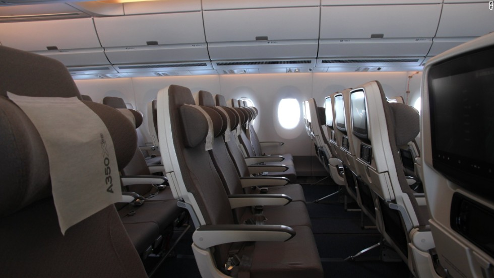 The kitted-out plane has nine seats abreast in economy.
