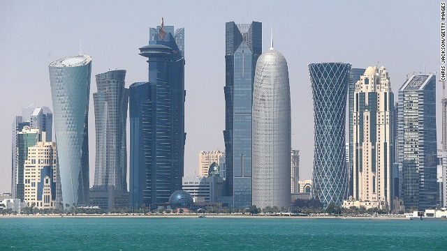 The Qatar skyline on February 20, 2014 in Doha. Qatar's strategy with the Muslim Brotherhood has failed, writes Al Qassemi.