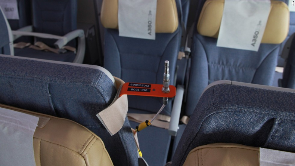 A seat mounted thermometer records the temperature and relays it back to the control center.