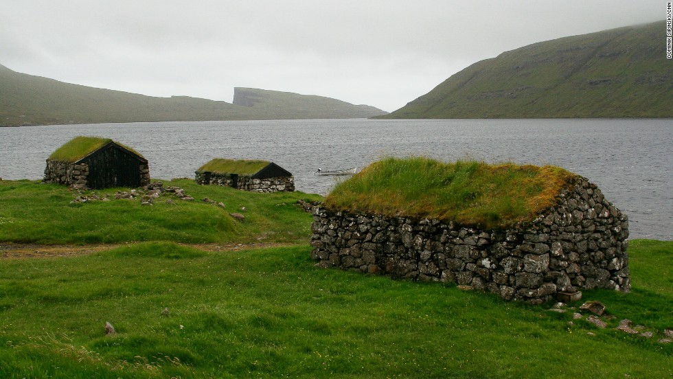These sheds at the Leitisvatn lake were originally built by early Viking settlers.