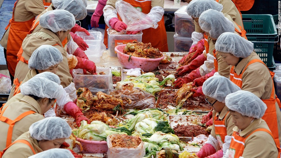 "Kimchi -- a clashing of cultures and colors. Korea and Japan's spat over the dish heated up in 1996 when Japan proposed designating Japanese kimchi, called ""kimuchi,"" an official Atlanta Olympic food."