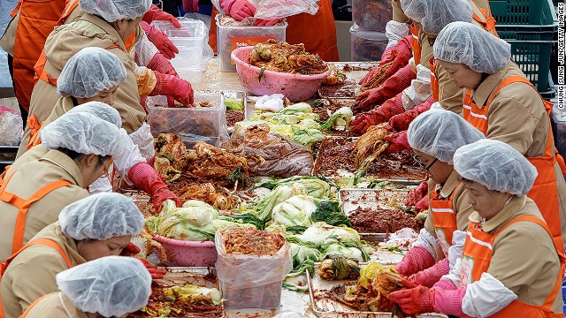 Kimchi -- a clashing of cultures, and colors.