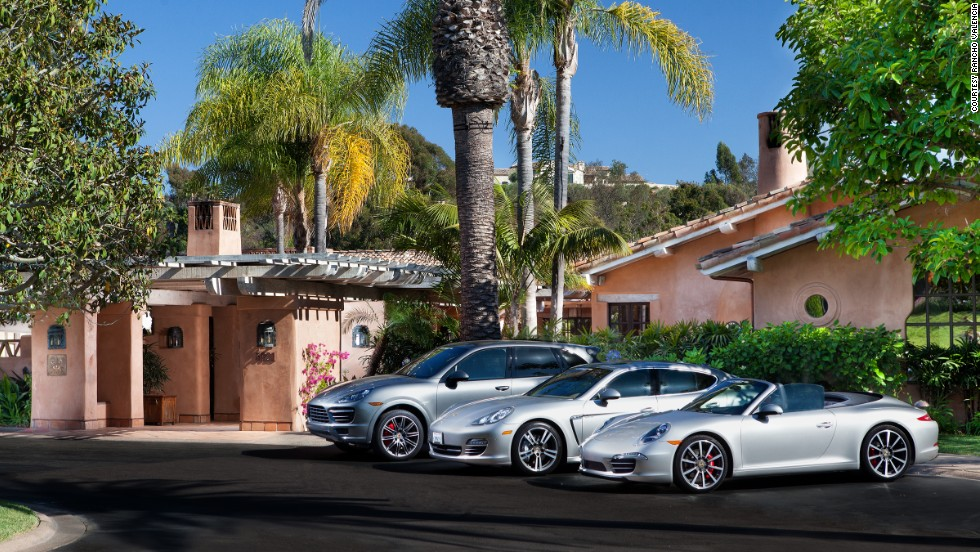 At Rancho Valencia, all hotel guests have access to its private fleet of Porsches.