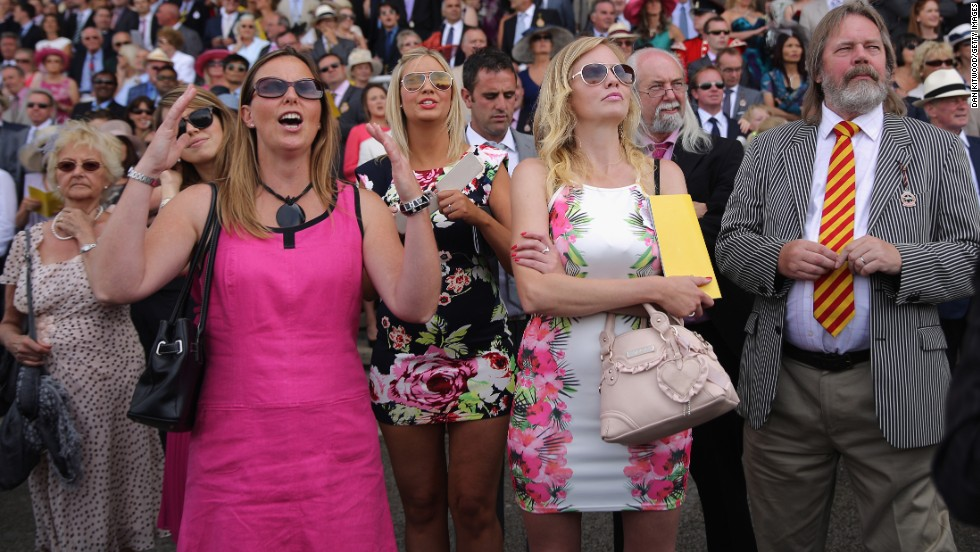 Over 100,000 people attend the five-day racing festival each year, set on the lush rolling hills of Sussex in the south of England.