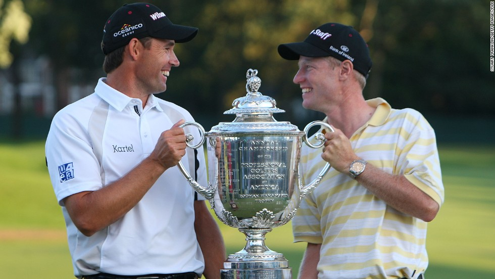 According to new research, a caddie can improve a golfer's performance by 30% or more if their relationship is strong. One successful partnership is between three-time major champion Padraig Harrington and his right-hand man, Ronan Flood.