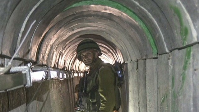 "A look inside ""lower Gaza"" tunnels"