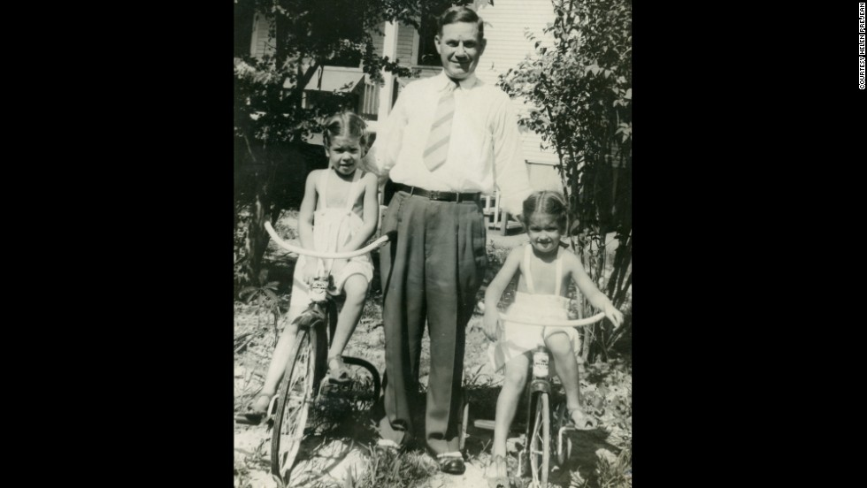 A young Prejean, right, and her sister Mary Ann with their father. She grew up, she says, in a privileged home in Baton Rouge, Louisiana, oblivious to the racism and poverty around her.